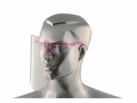 Schutzvisier mit 1 Rahmen und 12 Ersatzvisieren - pink